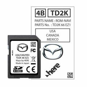 OEM GPS Navigation Mazda CX-5 2021 Mazda CX-9 SD Card TD2K66EZ1