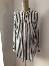 Vero Moda NWT $65. VMERIKA L/S bell White/ Gray Striped Long Sleeve Shirt Sz XS