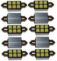 10x ampoule C5W 12V 6LED SMD blanc effet xénon 36mm navette éclairage intérieur