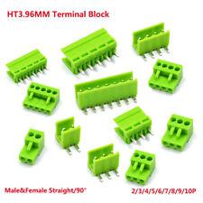 HT3.96MM Terminal Blocks Connector Male&Female Straight/90° 2/3/4/5/6/7/8/9/10P