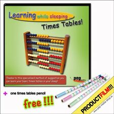 Learning while sleeping... Times Tables!  + gratis times tables pencil