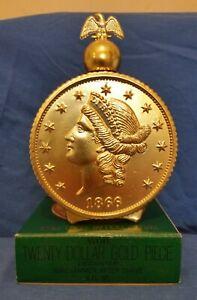 Windjammer Aftershave, Avon 1866 Twenty Dollar Gold Piece Decanter 6 fl oz full