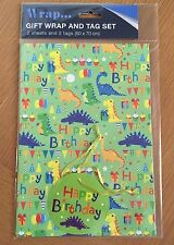Dinosaurs Birthday, Child Wrapping Paper