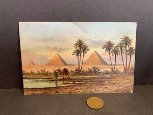 1938 Postcard, Egypt Pyramids, Cairo Cancel, Multiple Stamps, Polish Language
