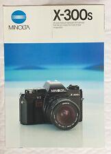 Minolta X-300s Film Camera, A4-Product Brochure