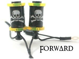 """1.25"""" 8-32 Tattoo Machine Parts Coils 6 Wrap Transp Yellow Washers Jolly Roger"""