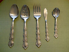 Oneida Mozart set of 5 serving pieces spoon pierced cold meat butter and sugar