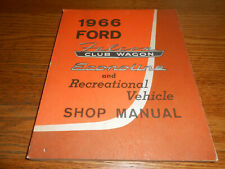 1966 FORD FALCON CLUB WAGON, ECONOLINE & REC. VEHICLE SHOP SERVICE MANUAL 66