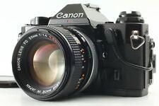 [Near Mint] CANON AE-1 Program Black + Data Back + FD 50mm f/1.4 from JAPAN 0487