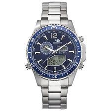 Meister Anker Uhr Armbanduhr Edelstahl Funk Weltzeit Tag Datum Temperatur Solar