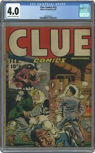 Clue Comics #12 CGC 4.0 1947 0355000014