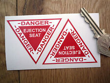 "EJECTOR SEAT Triangular STICKERS Small 2.5"" Pair Ejection Car Plane Funny Danger"