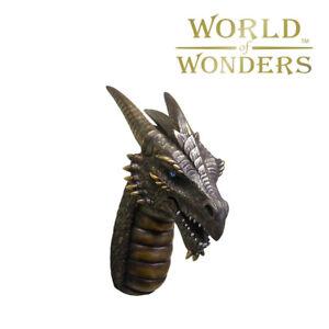 """Artanis Dragon Head Wall Bust faux Taxidermy GOT Gothic Room Decor 18"""""""
