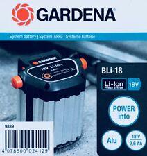 GARDENA System Akku BLi-18 2,6 Ah für viele GARDENA Trimmer, Bläser Heckenschere