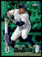 2020 Topps Chrome Base Green Wave Refractor #6 Miguel Cabrera /99