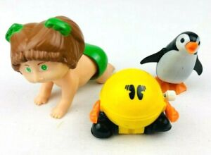 Vintage 1970's TOMY Wind Up Toy Lot - Pac Man Cabbage Patch Penguin  *G