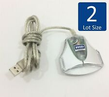 Lot of 2 HID OMNIKEY 3021 USB Smart Card CAC Common Access Card Reader ID Card
