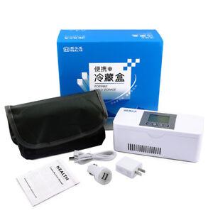 Mini Autokühler Tragbare Reisemedizin Kühlschrank Insuline Kühlschrank Fall Box
