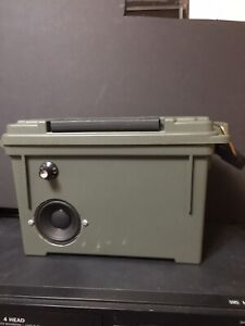 Custom Portable Ammo Can bluetooth speaker