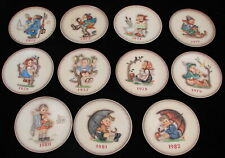 Lot of 10 Vtg Goebel Hummel Annual Collector's Plates 1972-1982 West Germany
