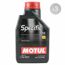 Motul SPECIFIC 2312 0W-30 Fully Synthetic Engine Oil - 3 x 1 Litre 3L