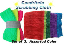 Cuadritela Cleaning Scrub Cloth for Pots, Pans, Kitchen, Bath.  3 Pcs Set.