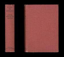 John Haslette Vahey SPIES IN AMBUSH  Pianist Counter-Espionage 1934 SPY THRILLER