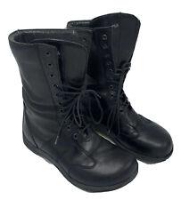 Footprints by Birkenstock Black Leather Lace Combat Boot Women 38 EU 8.5 US