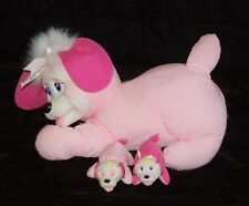 Vintage Remco Pregnant Puppy Surprise Dog 2 Babies 1992 Plush Stuffed Animal #30