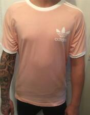 adidas California T Shirt in Vapour Pink - CLFN Retro 3 Stripe Trefoil Old Skool XL