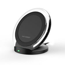Fast Qi Wireless Charger Charging Pad Dock Samsung Galaxy S8/S8 Plus HTC iPhone
