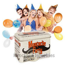Mustache Party Stache Face Stick On Hair Costume Adhesive Parties Ten Tin Guest