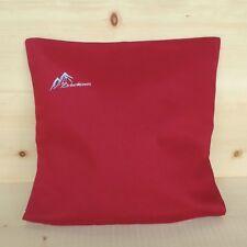 Zirbenkissen 40x40 Baumwolle rot, frisch befüllt, mit GRATIS Nachfüllpack