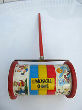 Vintage 1950s Fisher Price Toy Musical Chime Roller Nursery Rhyme Number 722