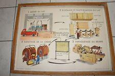 ANCIENNE AFFICHE SCOLAIRE ROSSIGNOL GEOGRAPHIE 55 56