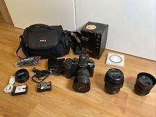 Lumix GH5 DSLR Camera 12-35mm 7-14mm 50mm 3 lenses, Videographer pack