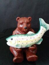 Vintage Vandor - Grizzly Bear With Trout - 1992 - Salt & Pepper Shakers - Unused