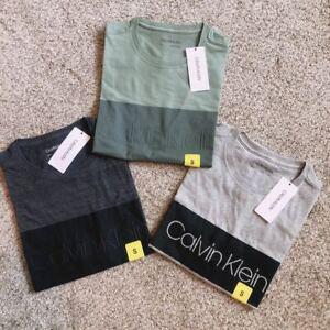 NWT Calvin Klein Men's Round Neck Graphic Logo Tee Shirt Choose Color