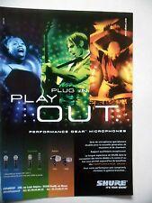 PUBLICITE-ADVERTISING :  SHURE Microphones  07-08/2002