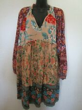 XL-PLUS 1XL UMGEE ROSE Pink Puff sleeve Floral Blouse Shirt Top maroon