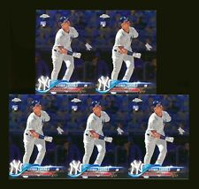 (5) 2018 TOPPS CHROME UPDATE HMT9 GLEYBER TORRES RC YANKEES ROOKIE CARD LOT!