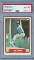 LEE SMITH Rookie 1982 Fleer #603 PSA 8 Chicago Cubs JVB53