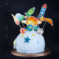 1 Set Space Planet Cake Toppers Cake Insert Baby Birthday Party Cake Decoration