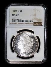 1885 S MORGAN SILVER DOLLAR COIN NGC MS62 #766-001