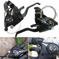 1 Pair Set ST-EF51-7 MTB Bike Gear 3 x 7 Speed Brake Shifter Combo-Lever US