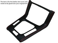 RED STITCH GEAR SURROUND LEATHER SKIN COVER FITS BMW 3 SERIES  E36 1991-1998