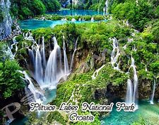 Croatia - PLITVICE LAKES NATIONAL PARK - Travel Souvenir Flexible Fridge Magnet
