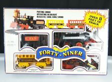 1988 Vintage Train Set FORTY NINER Battery Operated Puffing Smoke Headlight Chug