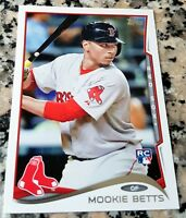 MOOKIE BETTS 2014 Topps Update Rookie Card RC SP Boston Red Sox RARE Super HOT