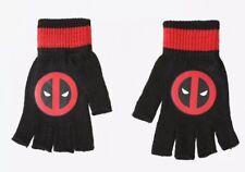 Hot Topic Marvel Comics Adult OSFM Fingerless Logo Gloves  DEADPOOL! 1fa8a63dcb4